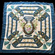 Vintage Hermes Paris Aux Champs Silk Scarf