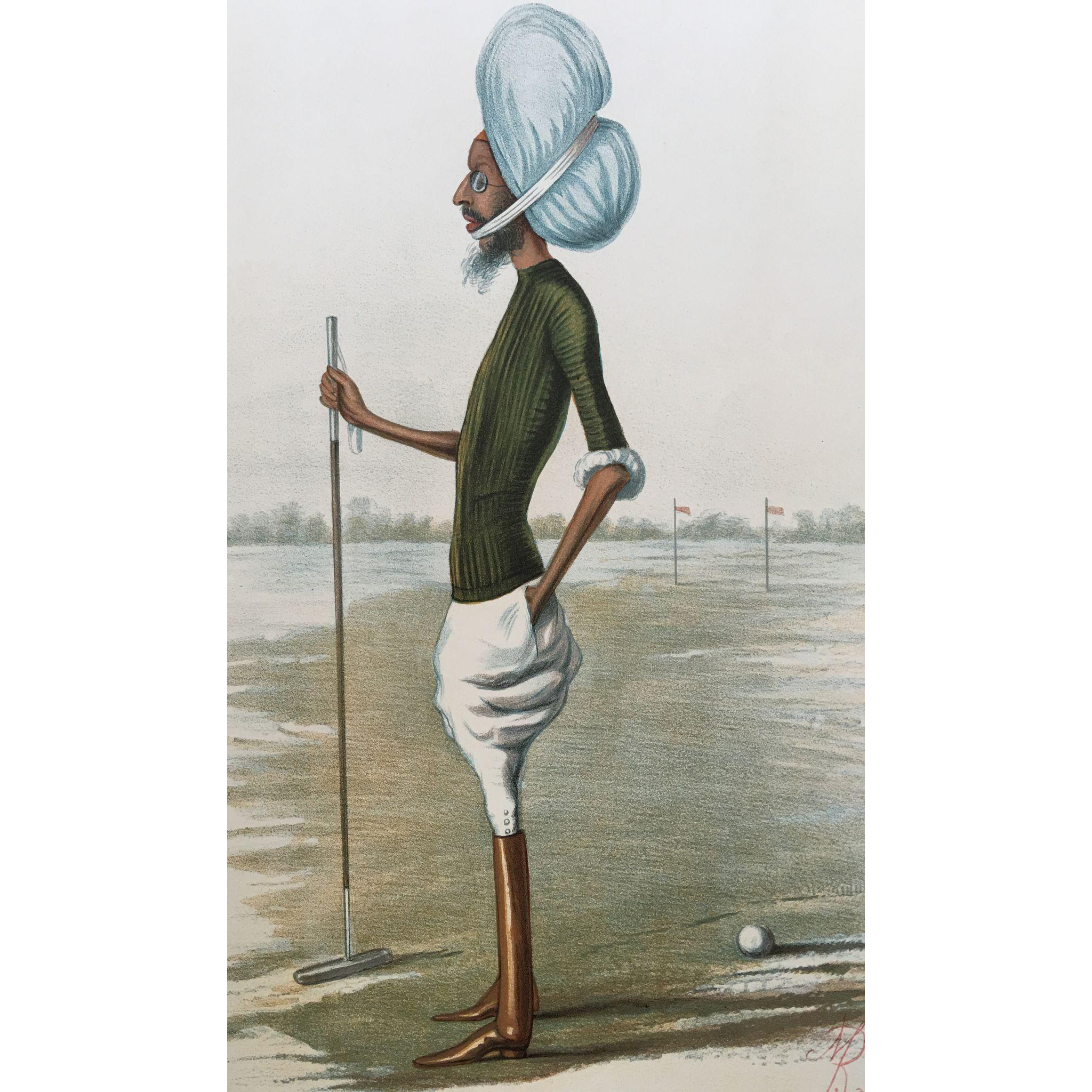 Antique Original Vanity Fair Polo Print - The Maharajah of Patiala