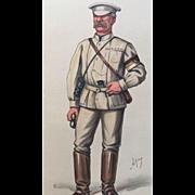 1878 Original Vanity Fair Print / British War Correspondent  - Archibald Forbes
