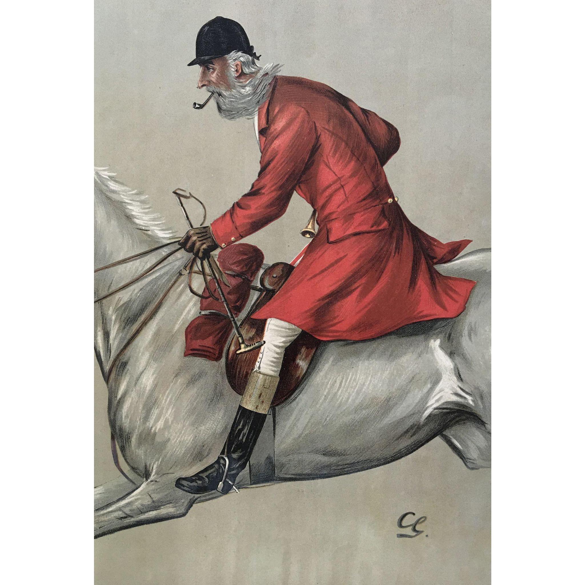 1897 original vanity fair fox hunter print blackmore for Jewelry arts prairie village