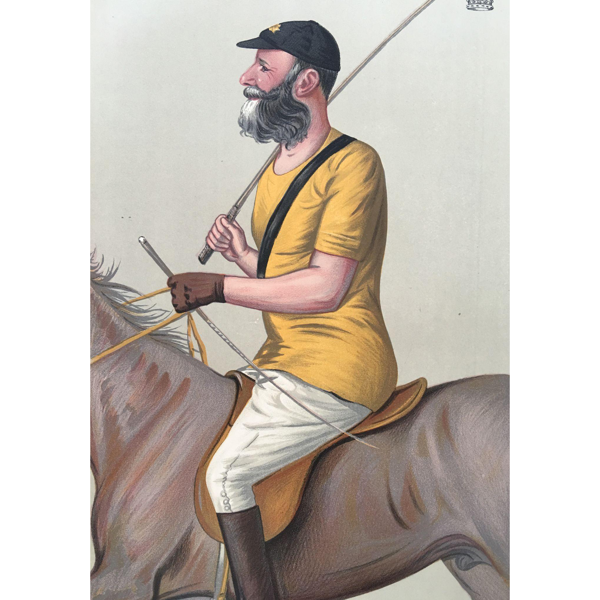 1891 Original Vanity Fair Print - Yeoman-like Polo - The Earl of Harrington