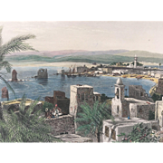19th Century Hand-Colored-Engraving-TYRE-PALESTINE by Fenn