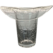 Fine Vintage Cut / Etched Glass Top Hat Vase