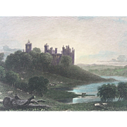 Fine 19th Century Hand Colored SCOTLAND Engraving - Linlithgow Palace