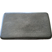 Early Antique Stamp Decorated Pewter Snuff Box