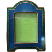 Miniature Antique Art Deco Enamel Frame