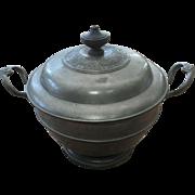 Vintage Pewter Soup Tureen