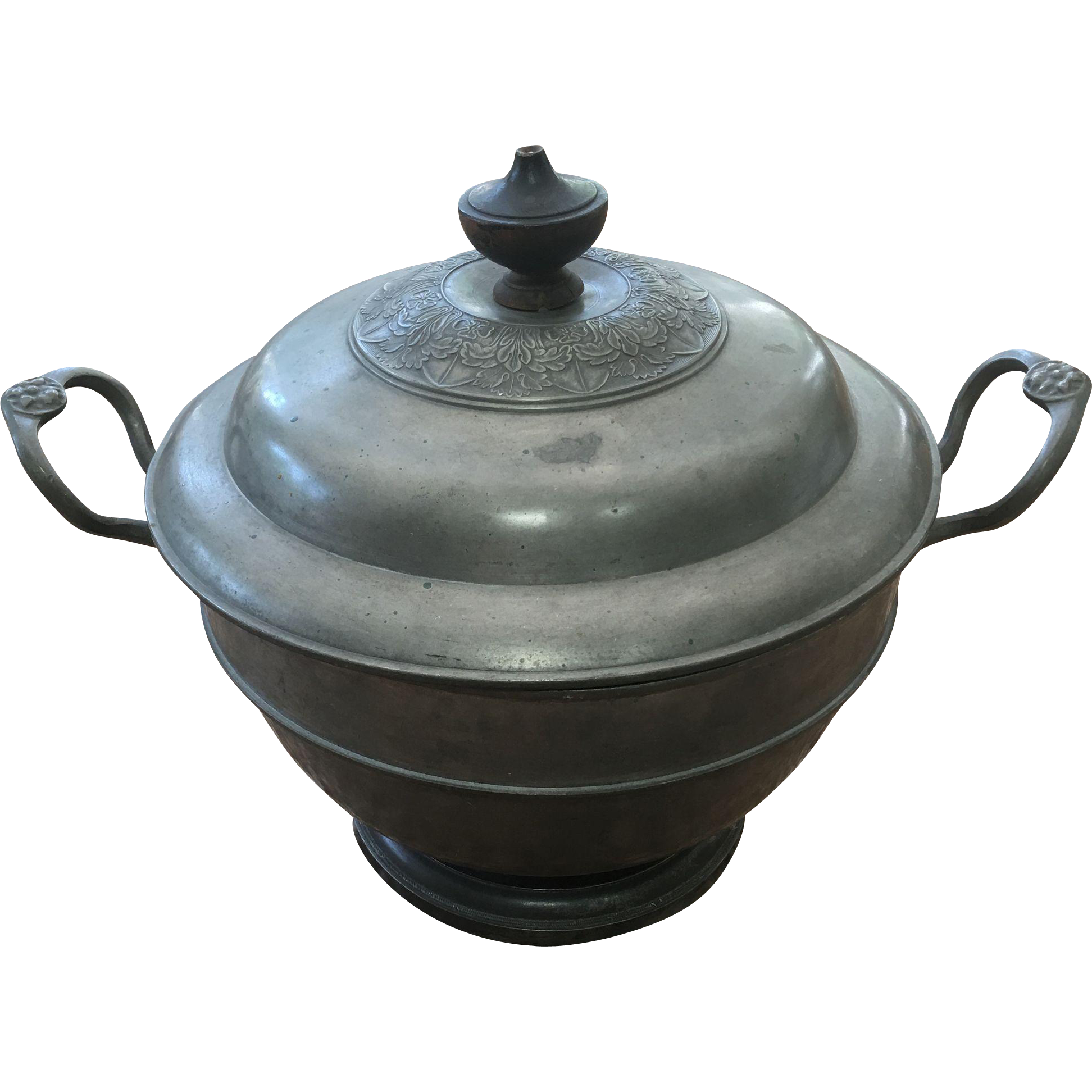 Vintage Pewter Soup Tureen