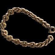 Antique Victorian 12K Gold FIlled Engraved Curb Link Bracelet