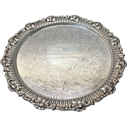 Fine Ellis Barker Silver Plate Vintage Grape Reticulated Tray