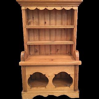 Vintage Miniature Salesman's Sample / Child's Irish Pine Dresser
