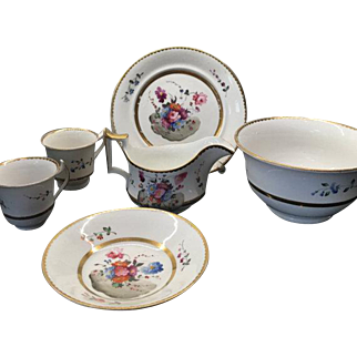 Antique Partial Set Hand Painted English Porcelain