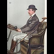 1903 Original Vanity Fair Automobile Devotee Print ~ Earl of Shrewsbury and Talbot
