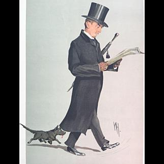 1912 Original Vanity Fair Print - Reverend Herbert Hensley Henson with Terrier Dog