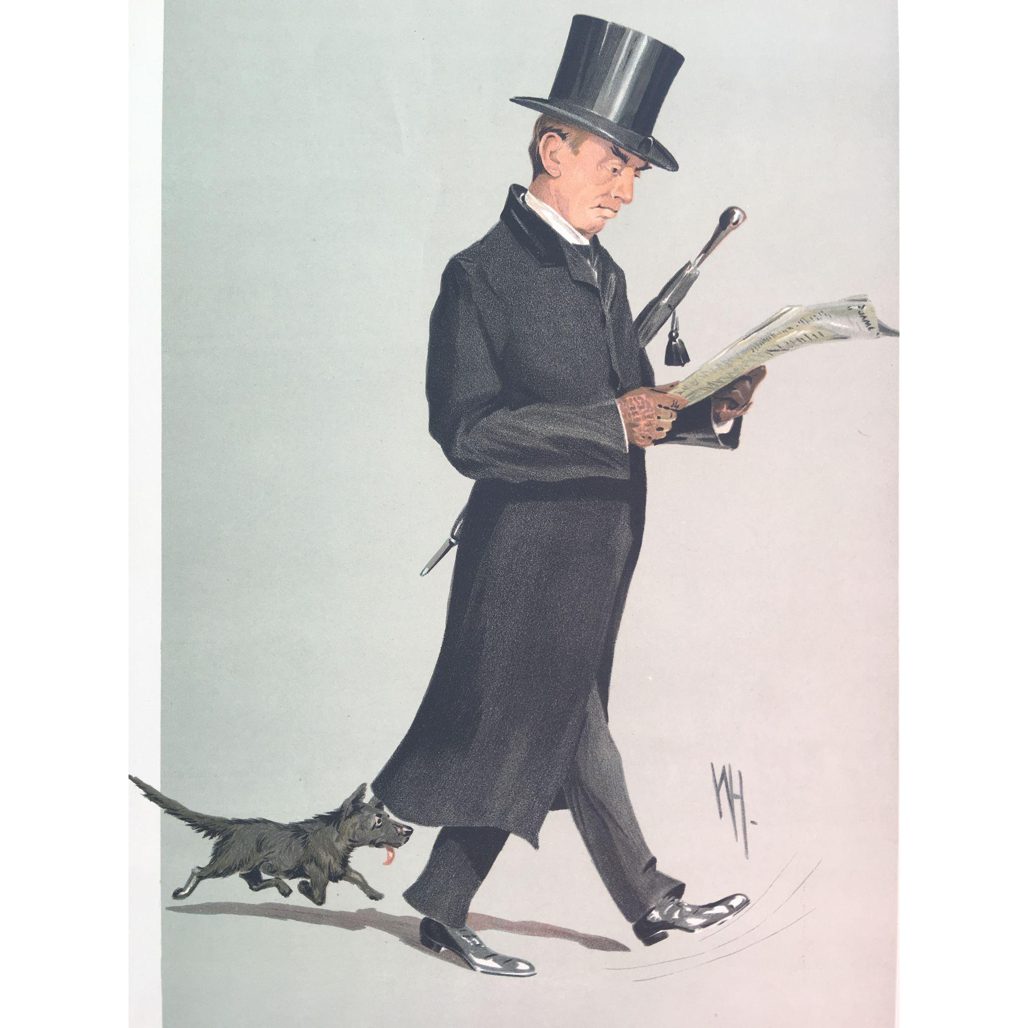 1912 Original Vanity Fair Print - Reverend Herbert Hensley Henson with Terrier Dog