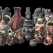 Antique Meyer's German Chromolithograph Mexico Argentina Peru Pottery