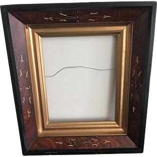 Antique American Eastlake Deepwell Walnut Picture Frame