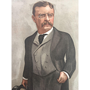 Original 1902 Vanity Fair Print ~ Theodore TEDDY Roosevelt ~ President of the United States -Artist's PROOF