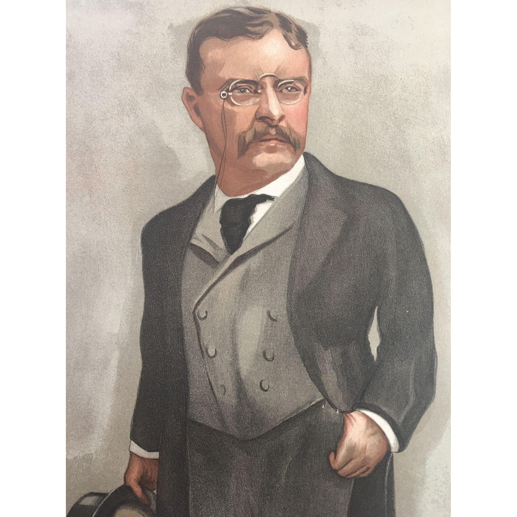Original 1902 Vanity Fair Print ~ Theodore TEDDY Roosevelt ~ President of the United States
