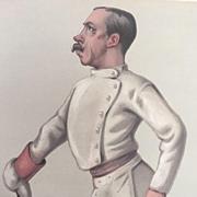 1880 Original Vanity Fair FENCING Print ~ Colonel Henry Stracey