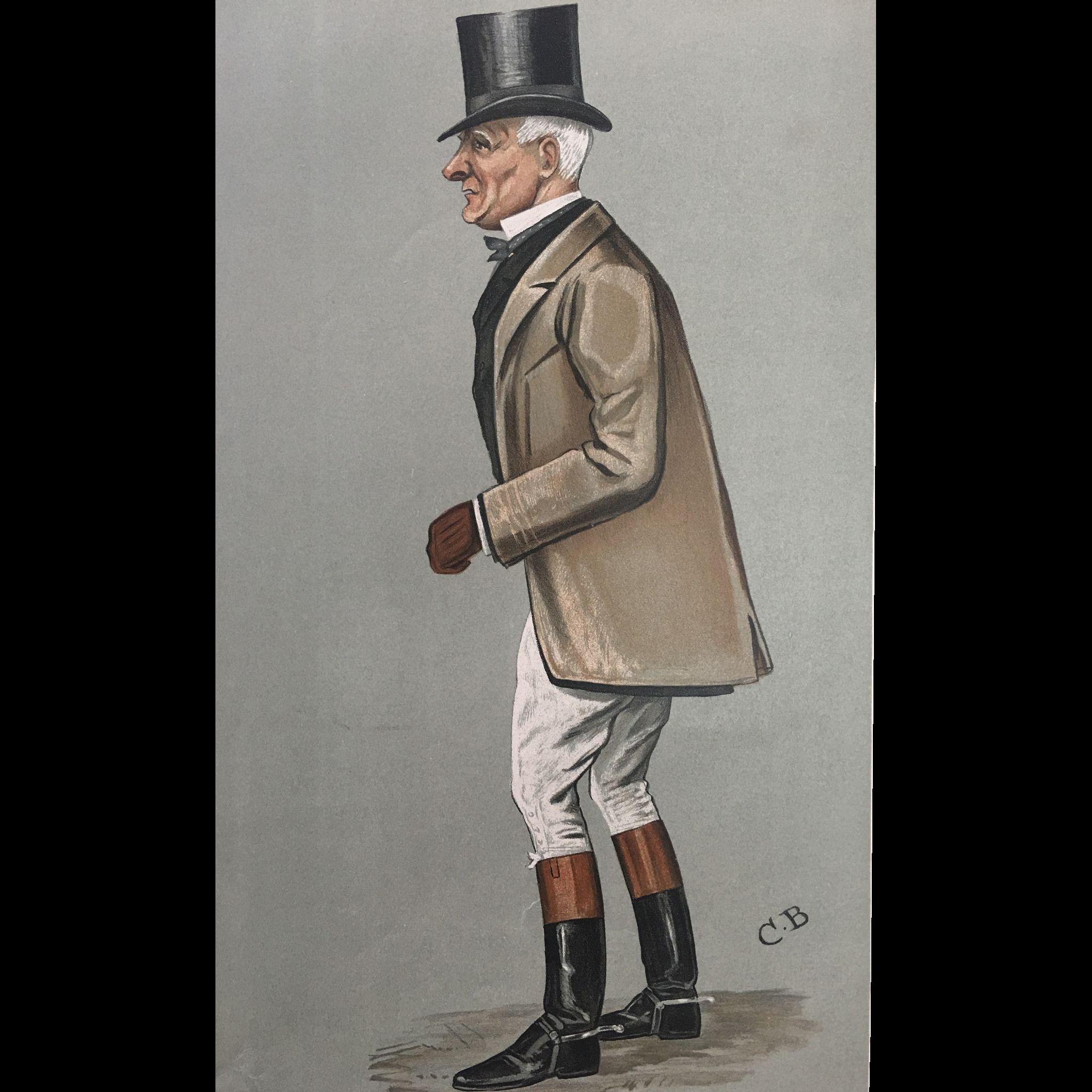 Original  1902 Vanity Fair SPORT RIDER  Print ~ John Earle Welby