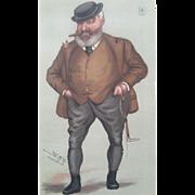 Original 1877 Vanity Fair Print  ~ Turf / Horse Racing Devotee ~ THE MATE