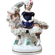 19th Century Staffordshire Girl with Goat