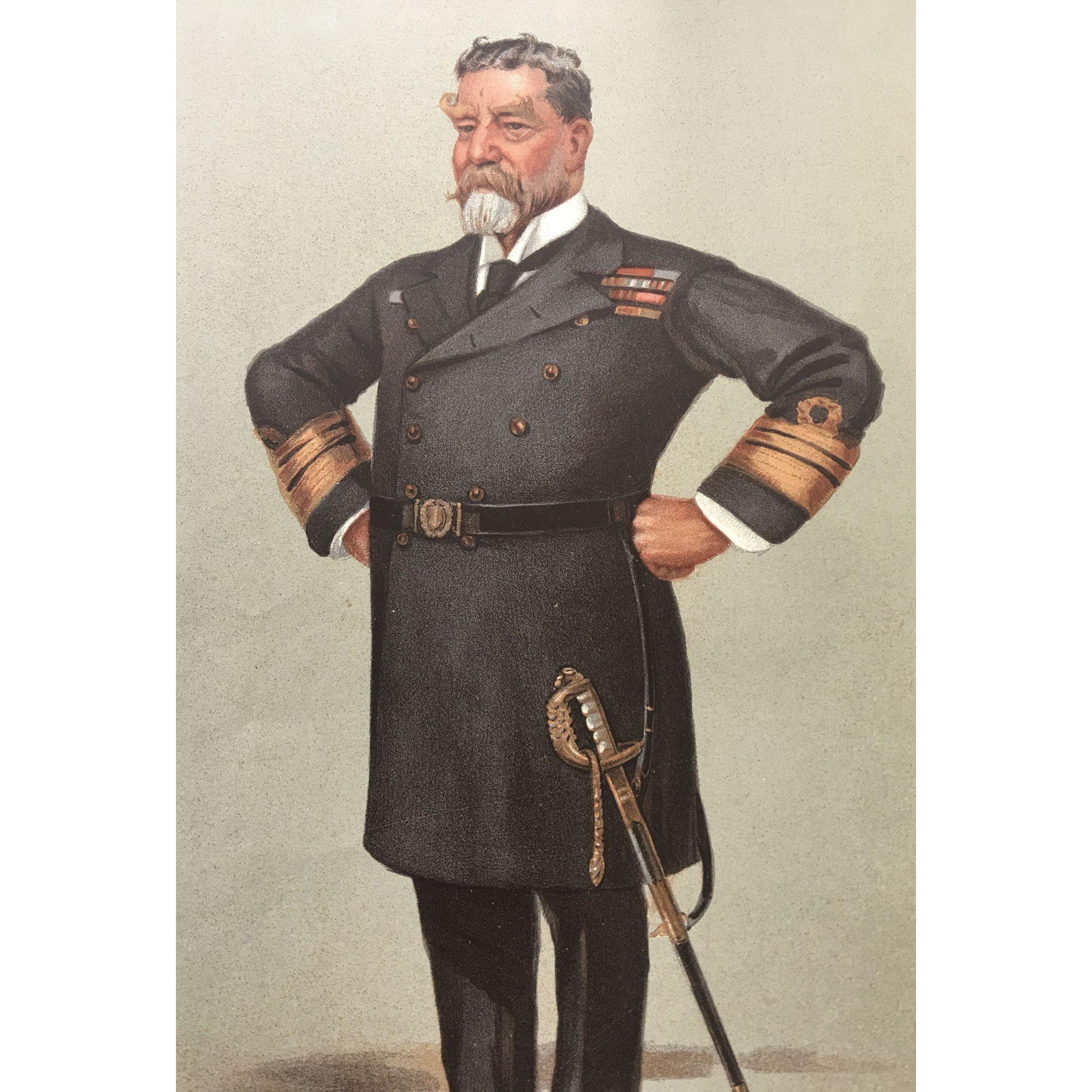 Original Vanity Fair Military SPY Print - Vice-Admiral Sir Harry Holdsworth Rawson