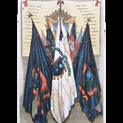 19th Century FAMOUS UNION BATTLE FLAGS Chromolithograph Print