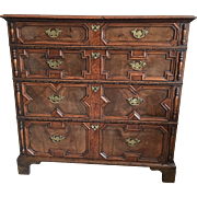 18th Century William & Mary Style Veneered Walnut Chest of Drawers