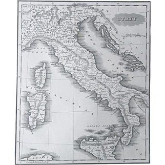 1847 Malte-Brun ITALY  Map