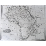 1847 Malte-Brun Map of AFRICA