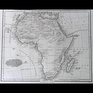 1847 Malte-Brun Map of AFRICA
