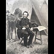 1860's Engraving of Civil War General NATHANIEL LYON