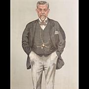 Original 1895 Vanity Fair Print ~ Caledonian Railway ~ Mr. James Thompson