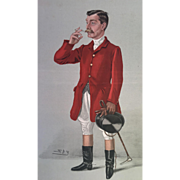 Original 1904 Vanity Fair Fox Hunter Print - A Hard Rider - Red Tag Sale Item
