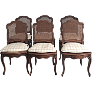 19th Century French Louis XV Style Caned Chairs - Set of 6
