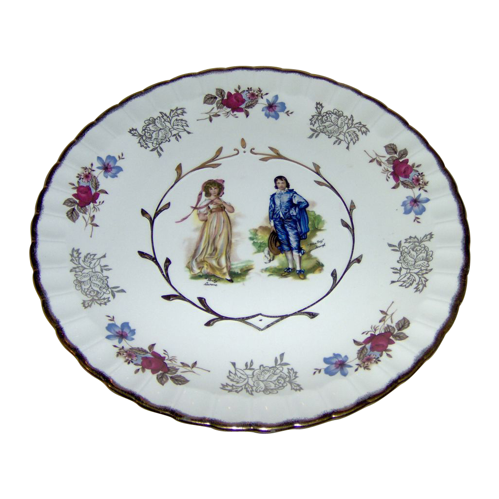 Beautiful Plate With Pinkie And Blue Boy From