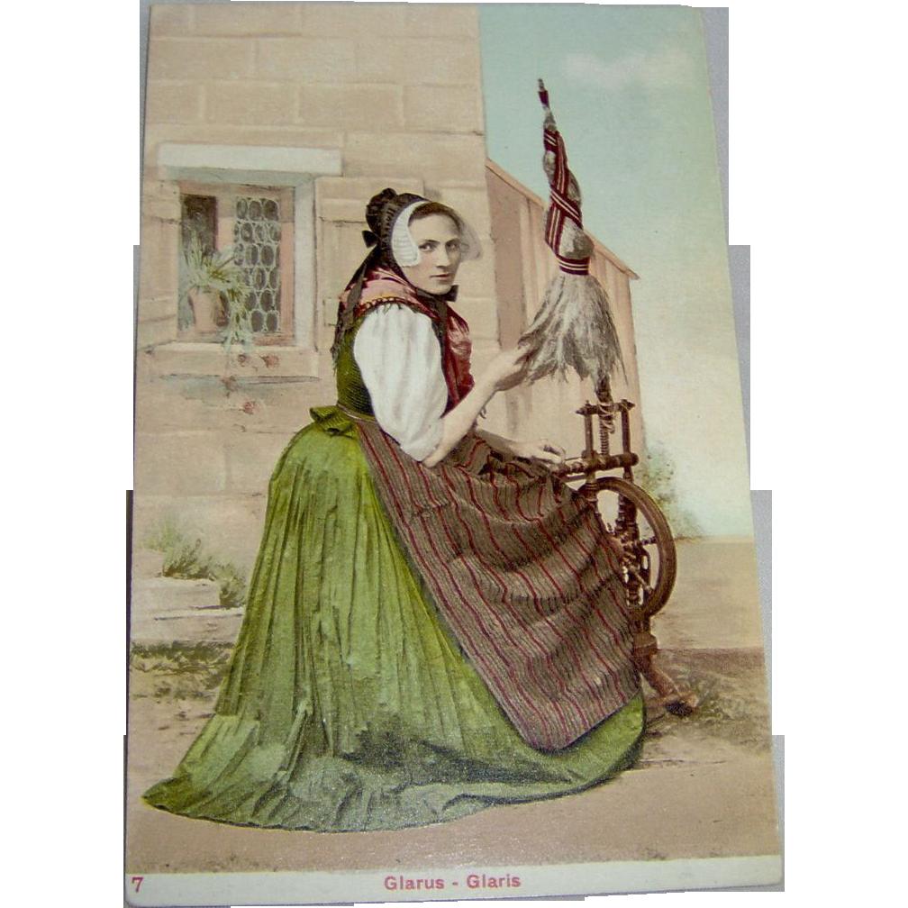 Vintage Postcard Glarus Glaris