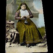 Vintage Postcard Paysanne de Corfou