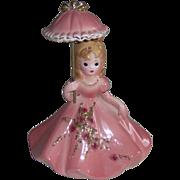 Delicate Josef Originals girl with an umbrella