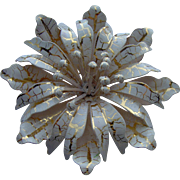 Beautiful Enamel Flower Brooch