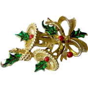 Christmas Brooch with Bells by Gerry's