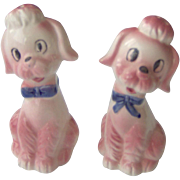 Cute Pink Poodles salt and pepper shakers