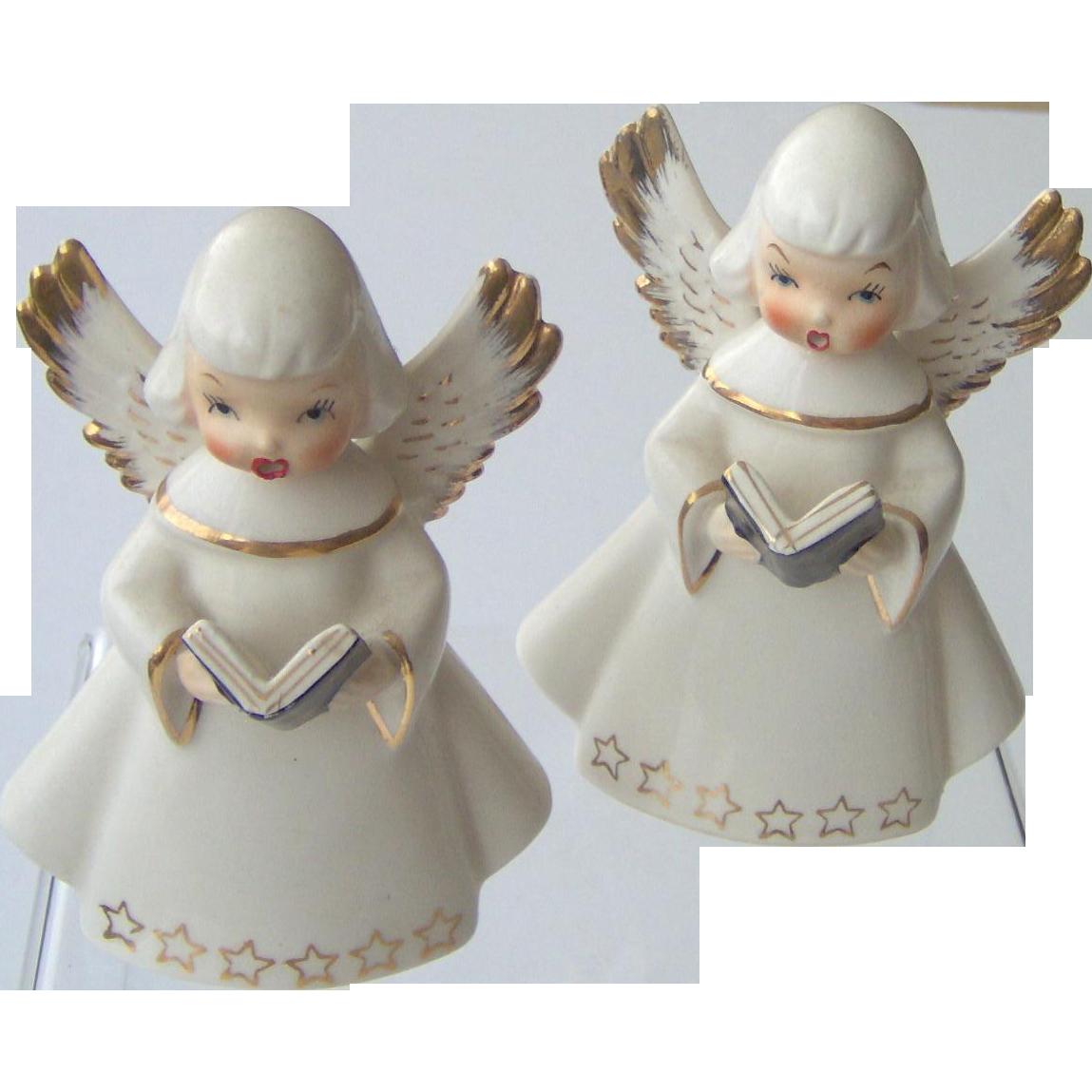 Pair of Singing Angels