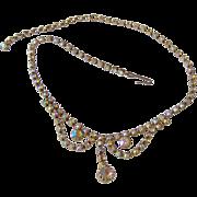 Aurora Boreallis Rhinestone Necklace