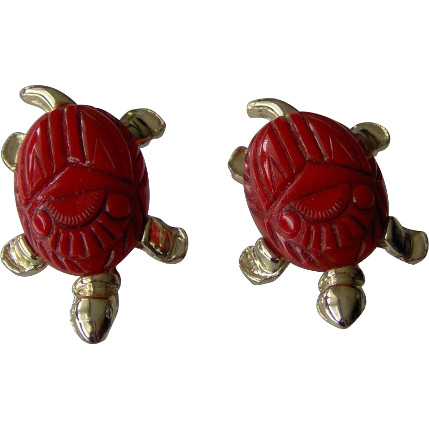 Pair of Turtle Scatter Pins