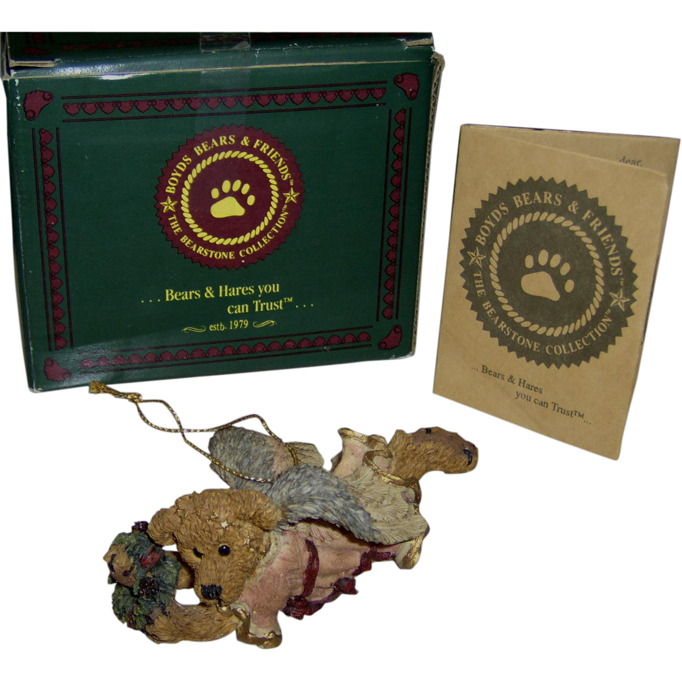 Vintage Boyds Bears Hope The Angel Bear With Wreath
