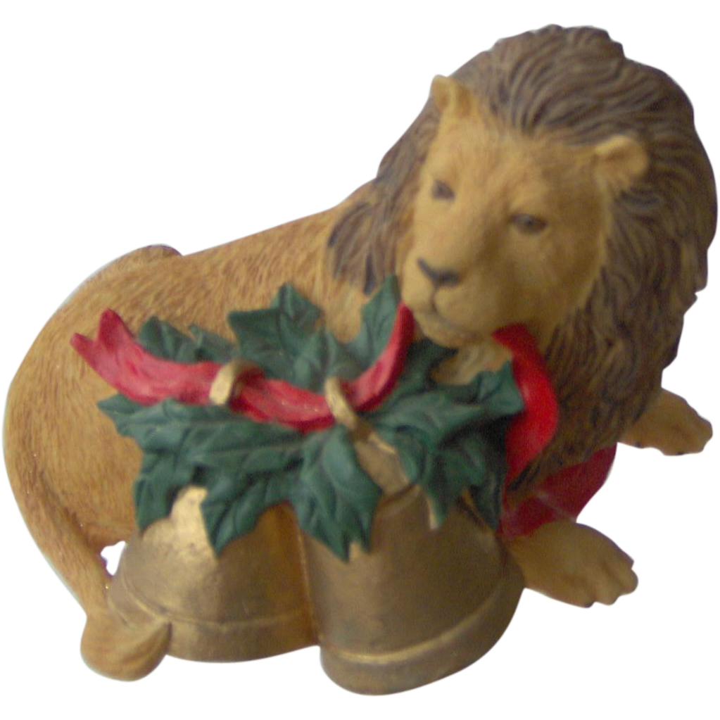 Christmas Lion with Bells by Rubel