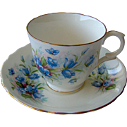 Pretty cup and saucer by Crown Staffordshire